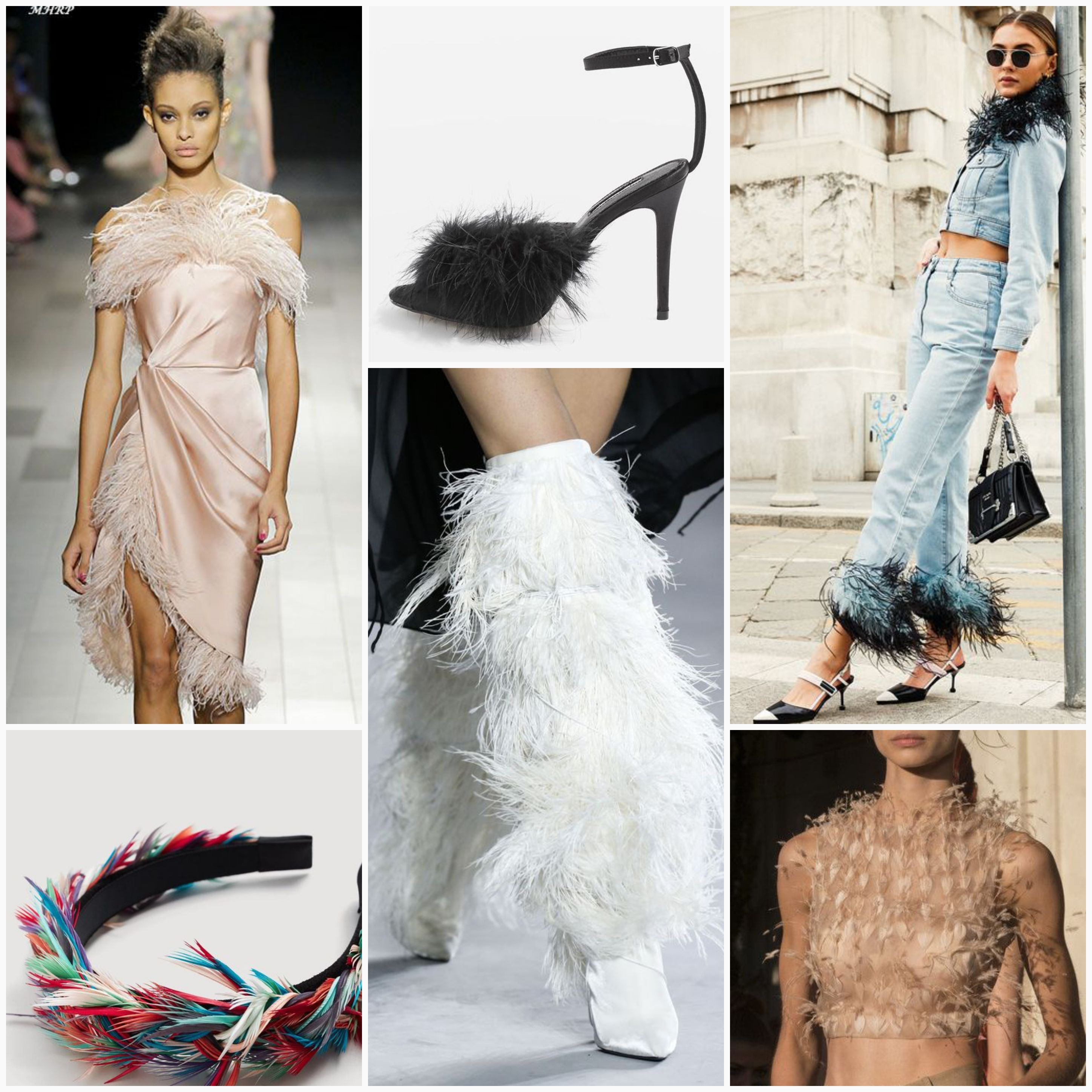 spring/summer trend fashion feathers outfit inspiration