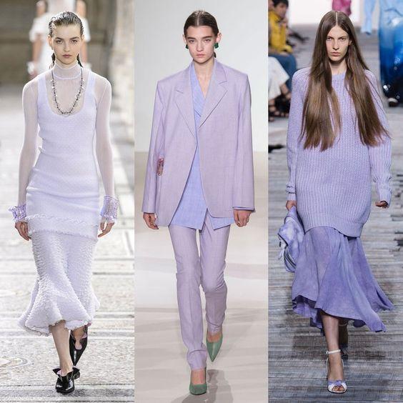 spring/summer trend fashion runway lavender