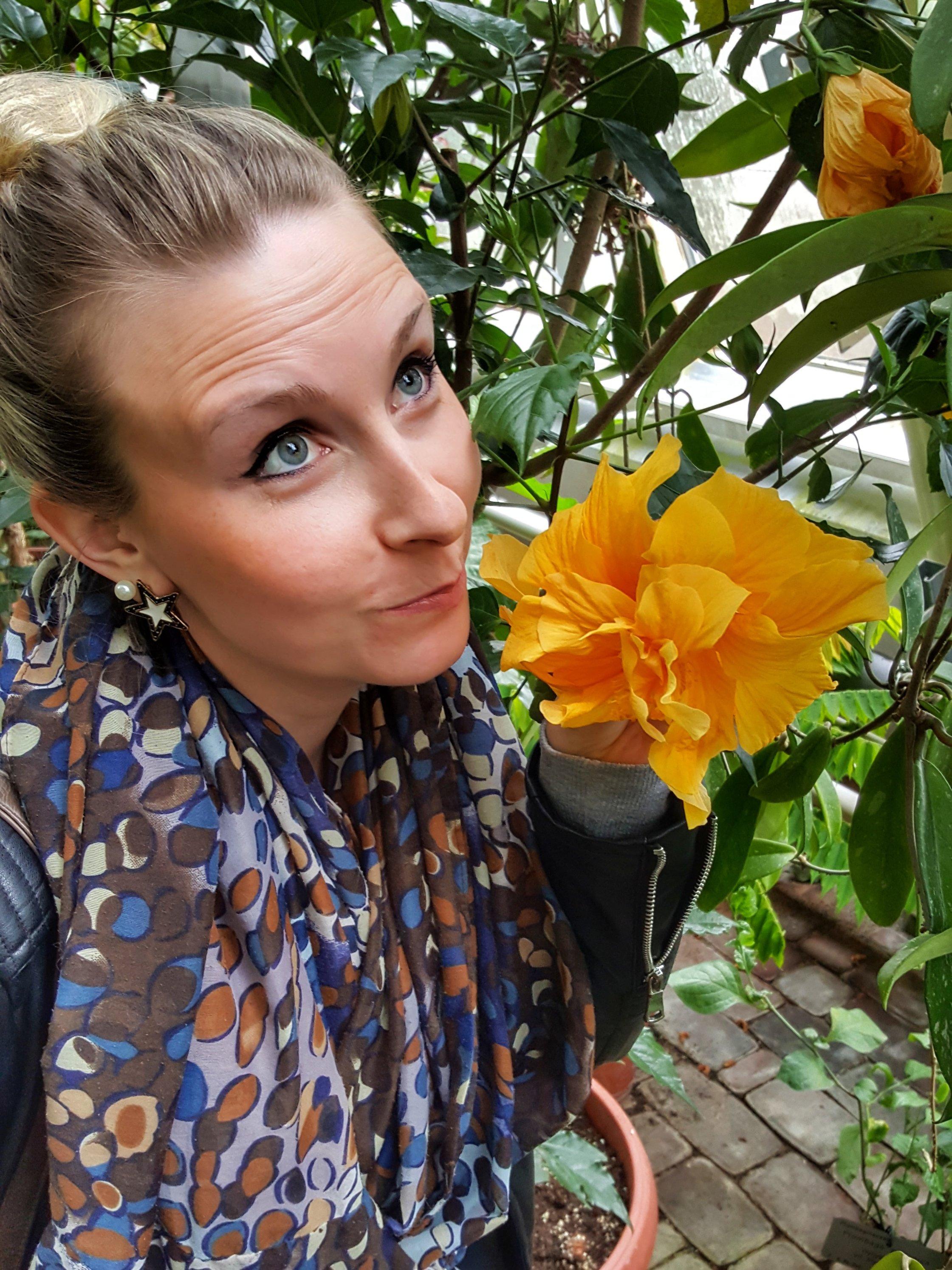 outlandish flower selfie garden