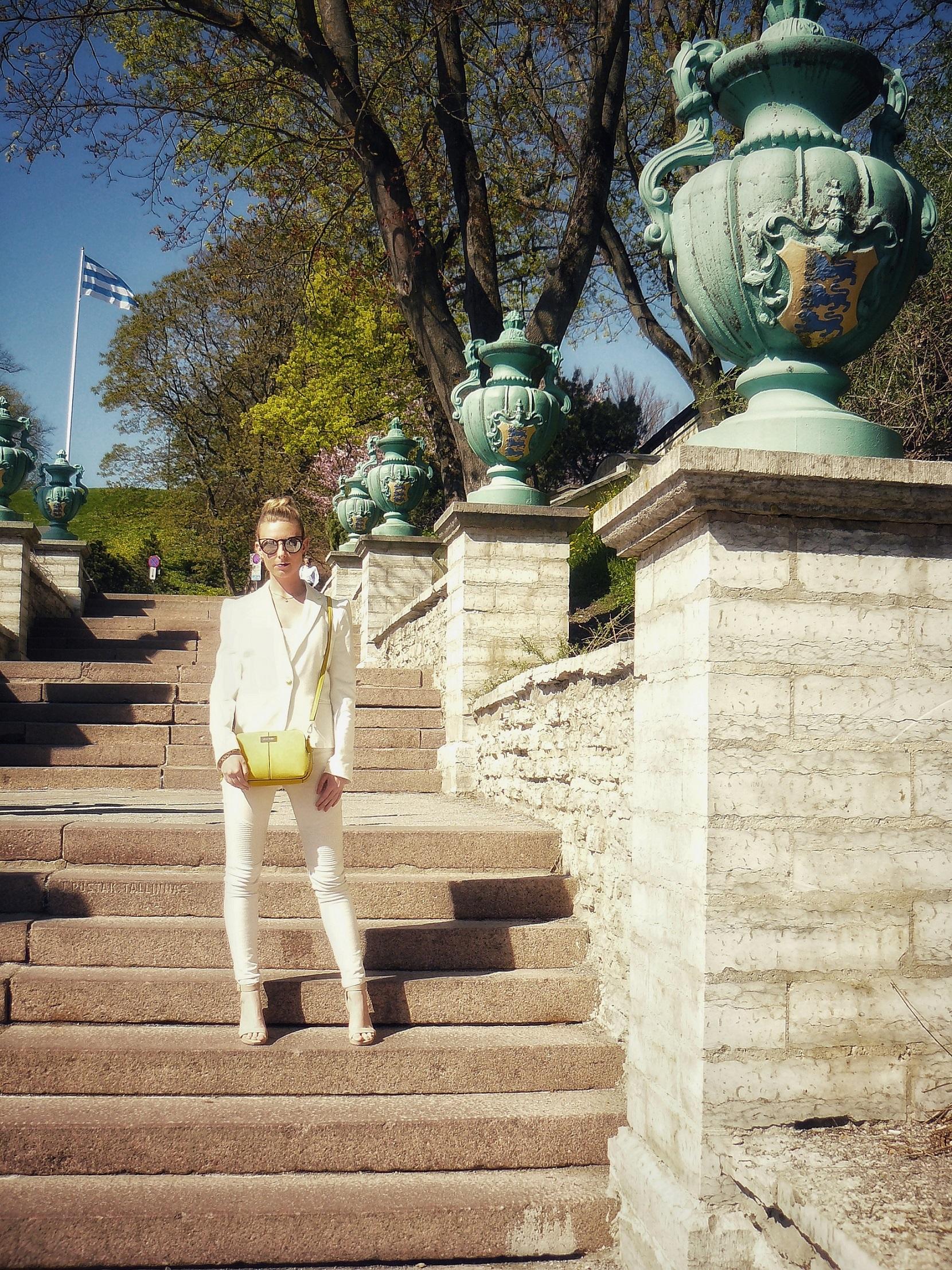 Outlandish blog model handbag accessory yellow