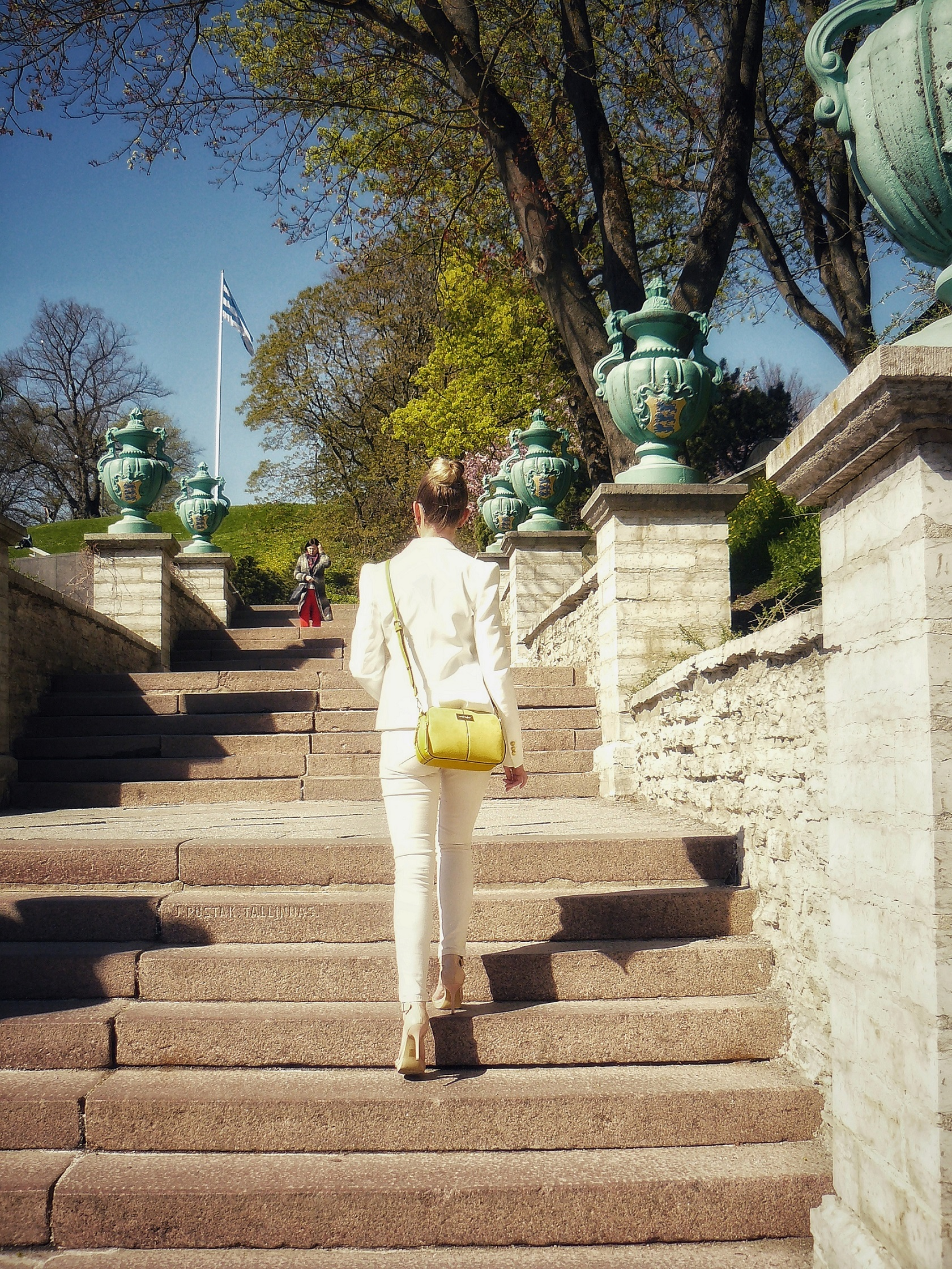 Outlandish blog model handbag accessory yellow