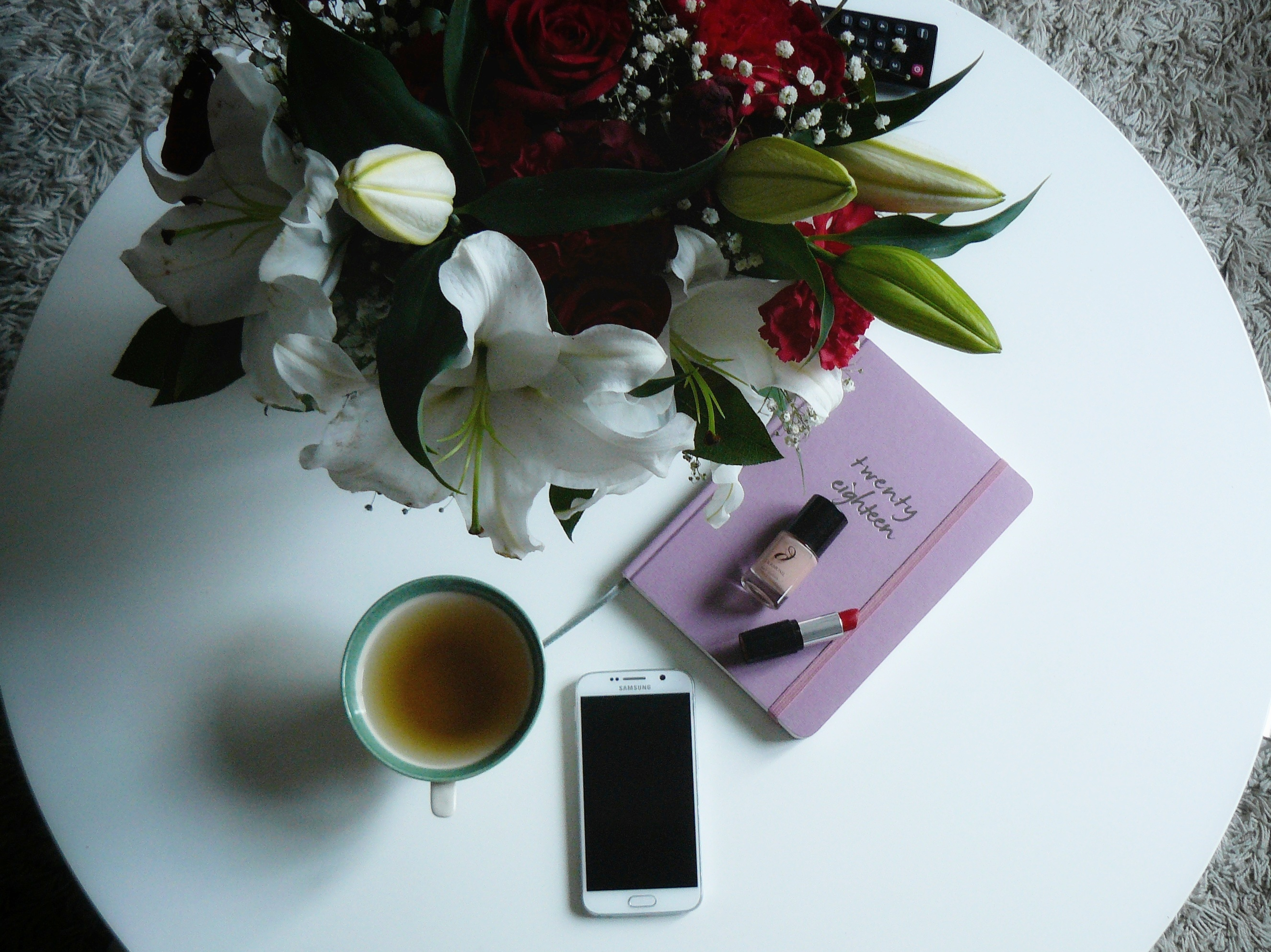Outlandish blog what makes me happy flat lay journal