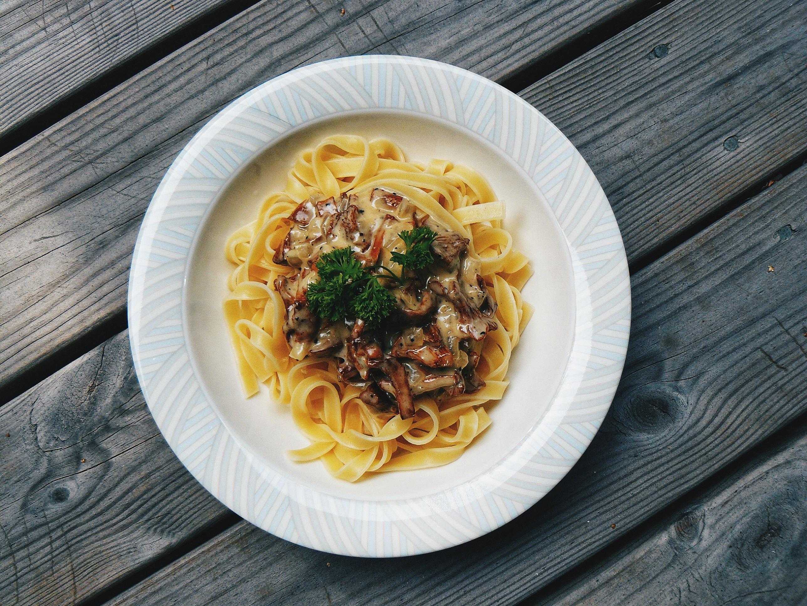 confession food pasta mushrooms delicious
