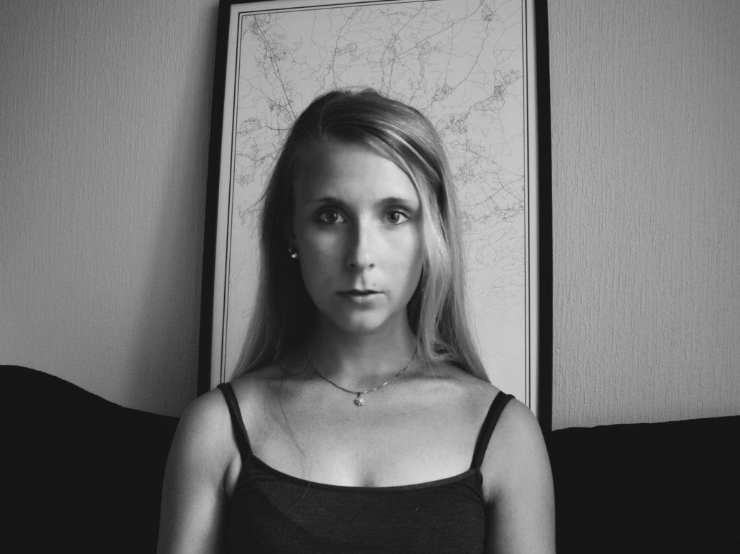 Outlandish blog photography challenge self portrait black and white