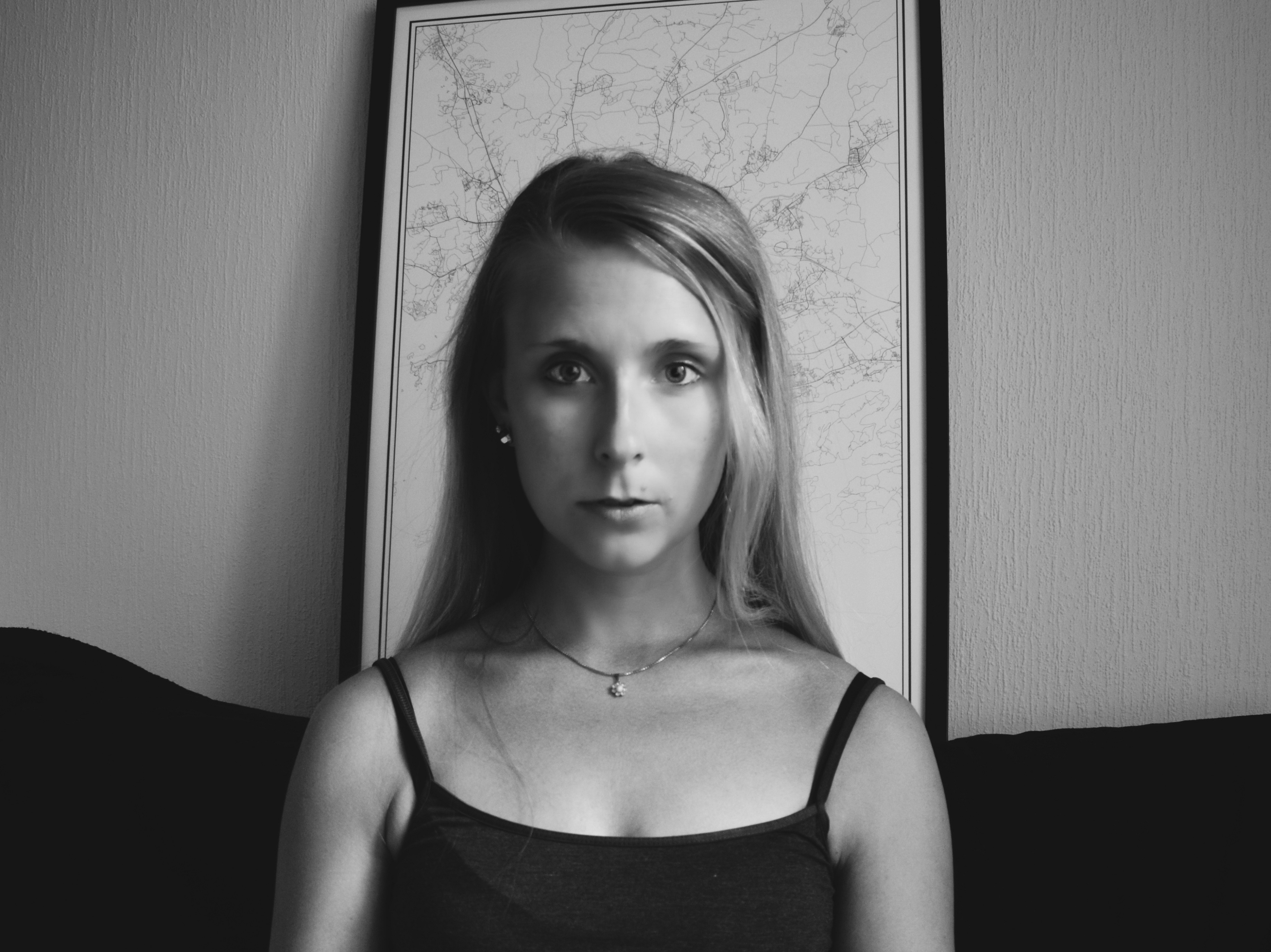 Outlandish blog photography challenge self portrait black and white