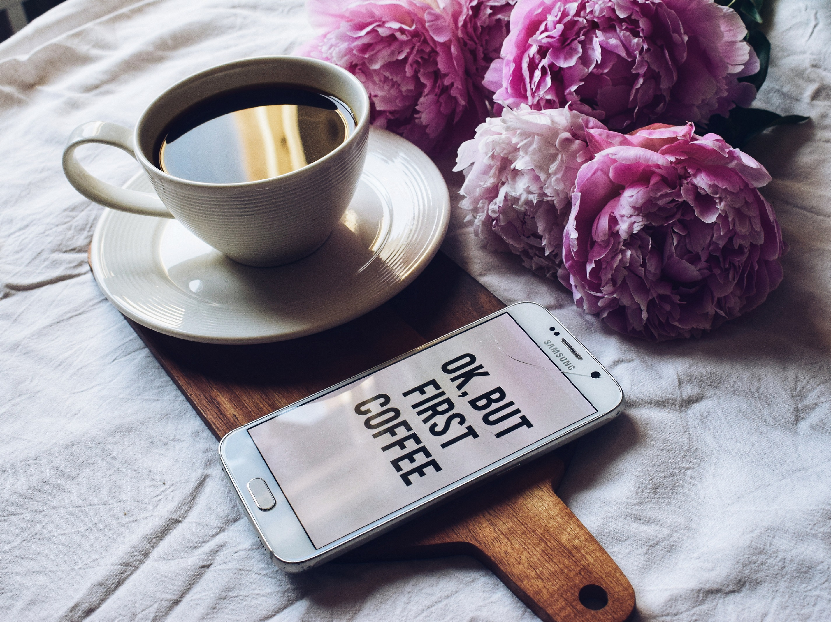 Outlandish blog live without coffee smart phone flat lay photography challenge