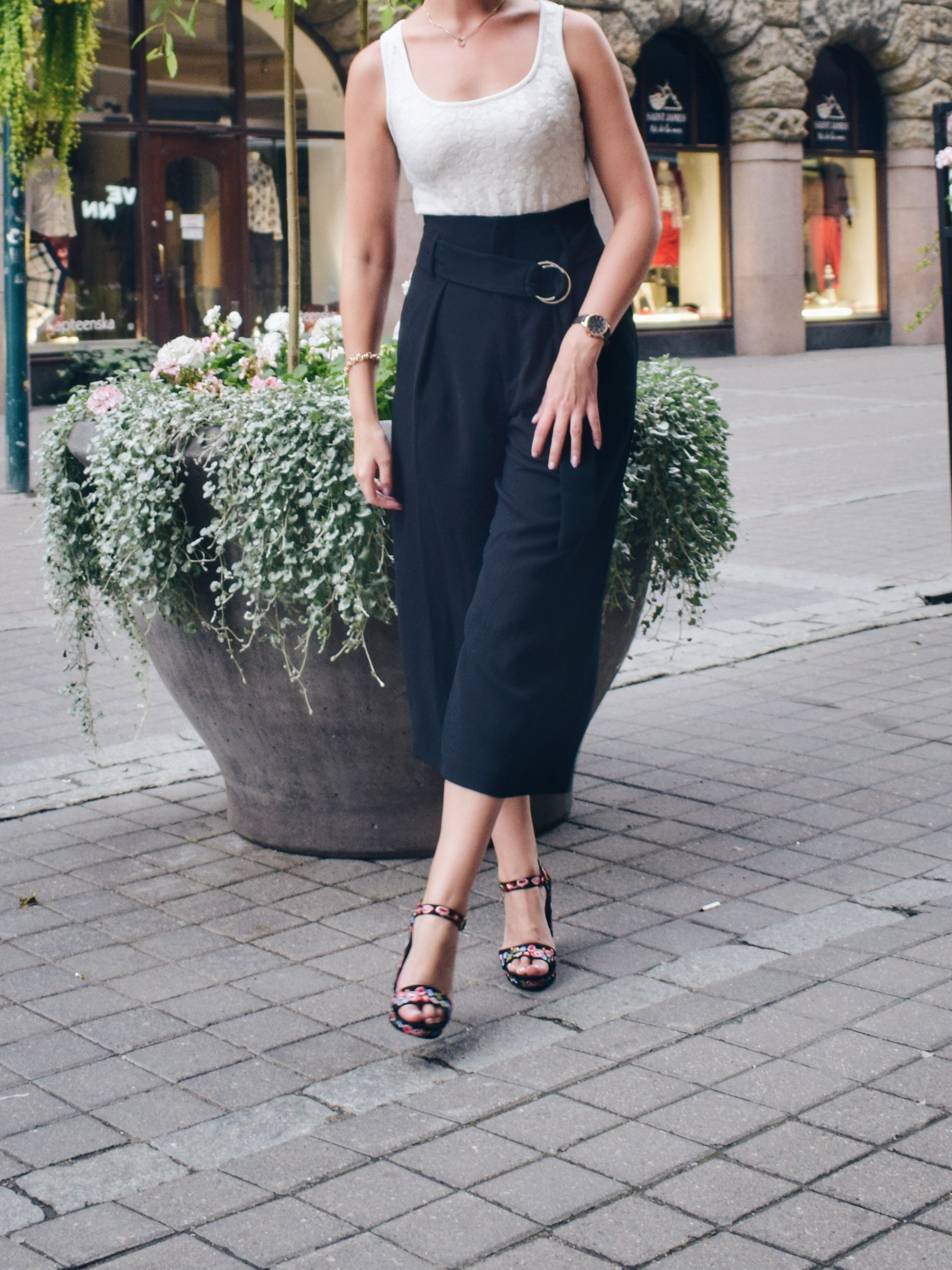Outlandish blog values life outfit celebration style fashion culottes