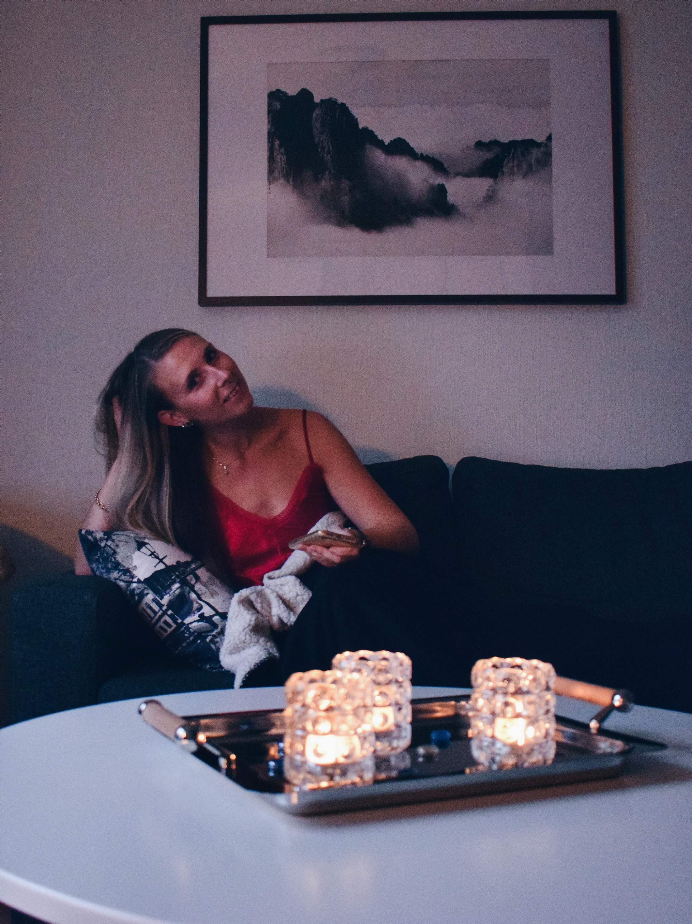 Outlandish blog recipe cosy night home candles darkness relax