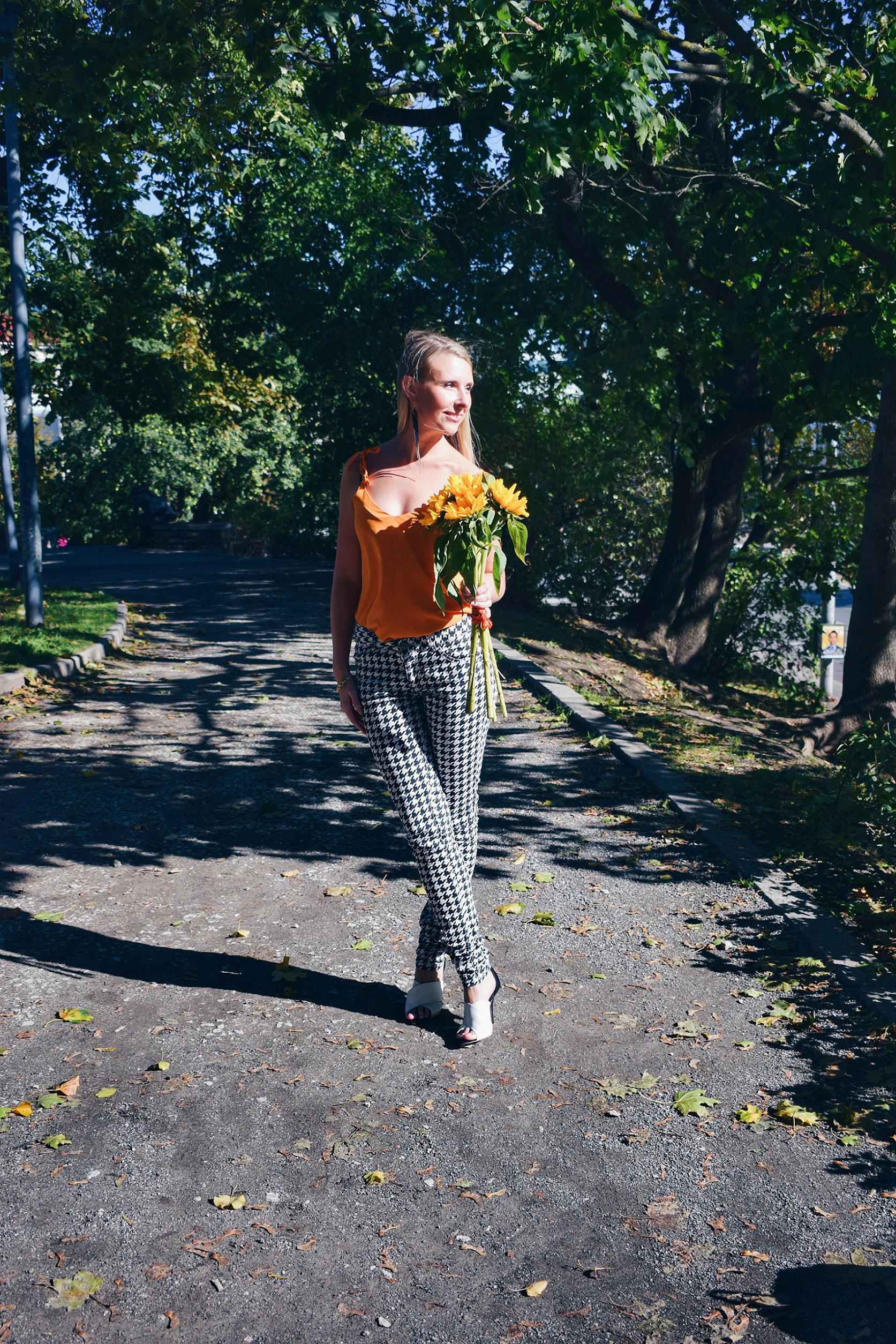 Outlandish blog launch new layout fashion Autumn outfit inspiration orange sunflowers