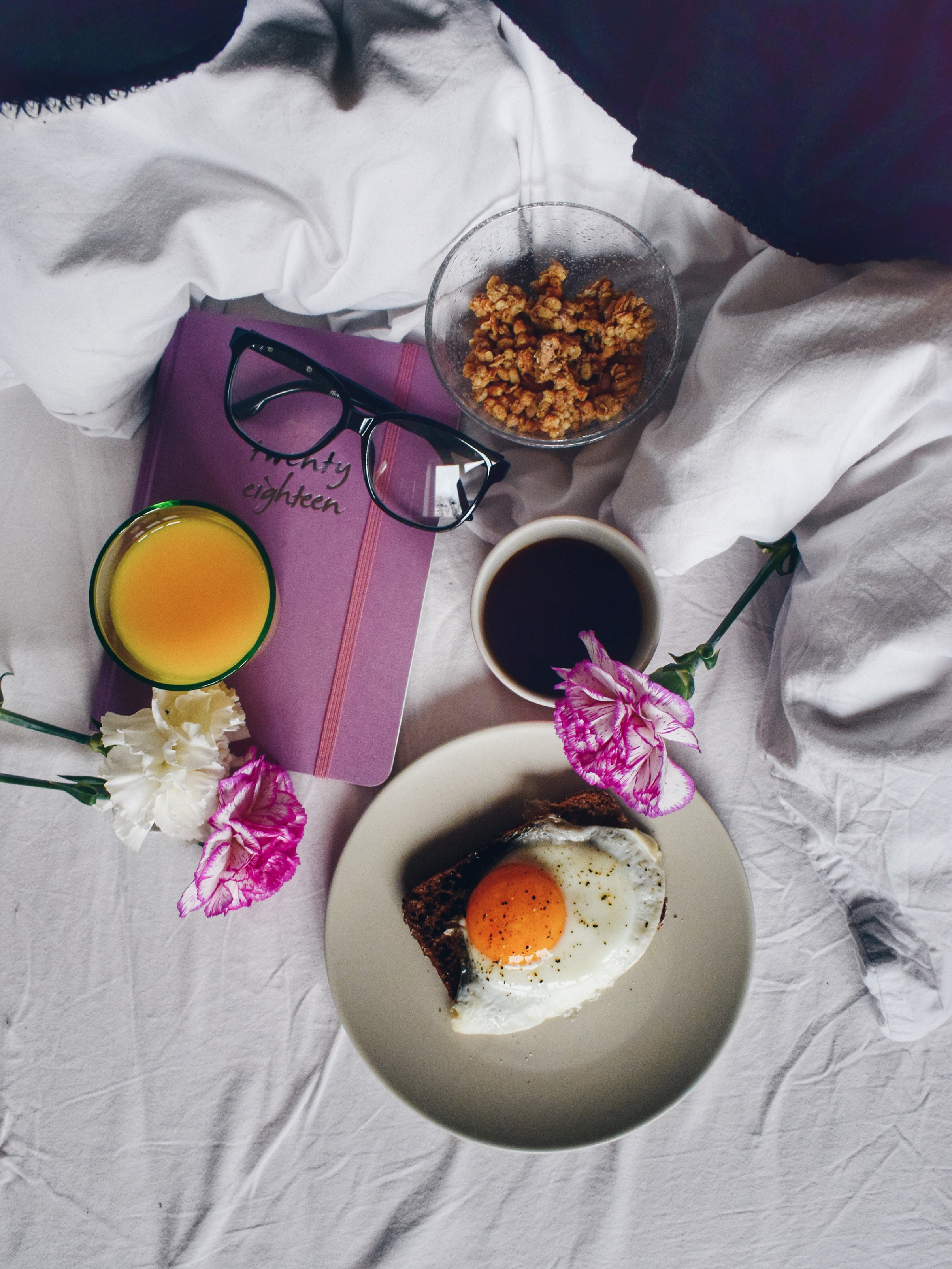 Photography challenge breakfast flat lay
